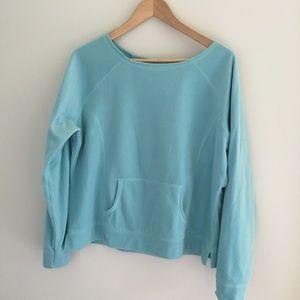 L.L. Bean Pullover Super Soft Blue Fleece XL